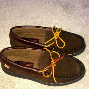 L.B. Evans Slippers Men's Size 9 Brown Leather